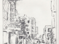 Downtown Bakersfield, graphite, 2018