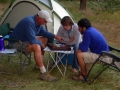 A favorite camping game, Chinese checkers