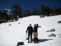 Onion Valley in the snow with camping buddy, Mike